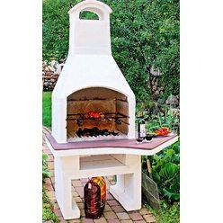 Печь-барбекю для беседки Гурман 2 столешница увеличена вправо
