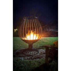 Кованый садовый очаг для костра Бокал с функцией мангала