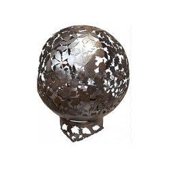 Кованая садовая чаша для костра Листья INOX с функцией садового мангала