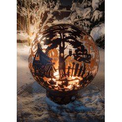"""Костровая чаша для огня """"Сказочный лес"""" 100 с  функцией садового мангала"""