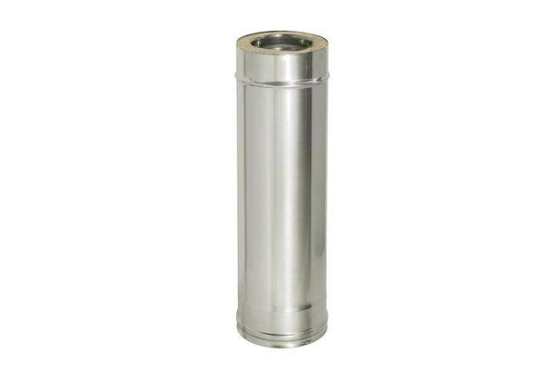 Труба прямая L1000 с изоляцией, D150/230 (0,5) Дымок