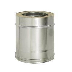 Труба прямая L250 с изоляцией, D180/260 (0,8) Дымок