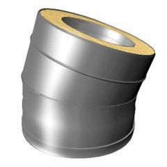 Отвод 15° V50R D150/250, нерж321/нерж304 (Вулкан)