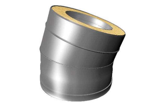 Отвод 15° V50R D160/260, нерж321/нерж304 (Вулкан)