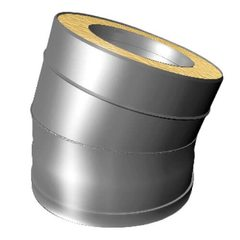 Отвод 15° V50R D250/350, нерж321/нерж304 (Вулкан)