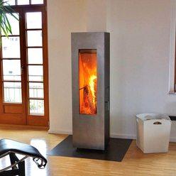 Металлическая печь MATRIX, черная/дверь нерж.сталь (Concept Feuer)