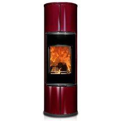 Печь ZION, черная/бордовая керамика (Concept Feuer)