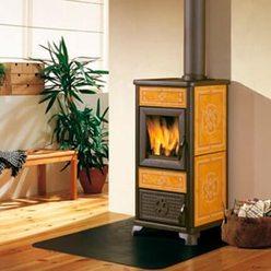 Керамическая дровяная печь DAFNE yellow (EdilKamin)