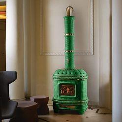 Изразцовая печь Castellana, green (Sergio Leoni)