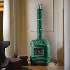 Изразцовая печь Castellana nikel, green (Sergio Leoni)