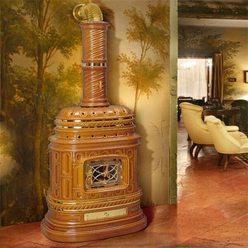 Изразцовая печь Corsara, honey, с бок. дверцей (Sergio Leoni)