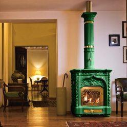 Изразцовая печь Giglio, green (Sergio Leoni)