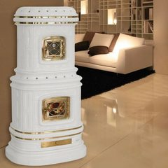 Печь Viennese, white matt craquele (Sergio Leoni)