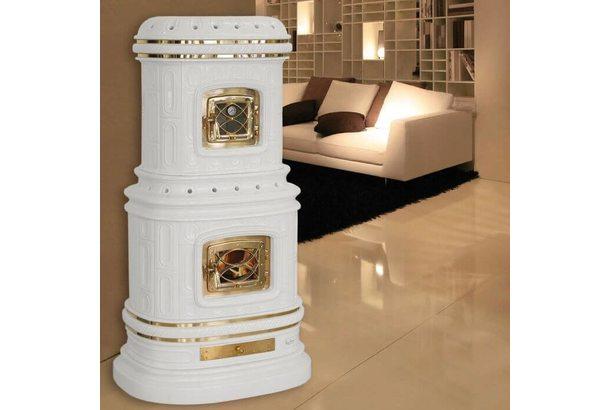 Печь VIENNESE accumulo, white matt craquele (Sergio Leoni)