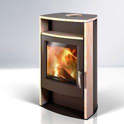 Керамическая дровяная печь ALVESTA, коричневый/песчаник (Thorma)