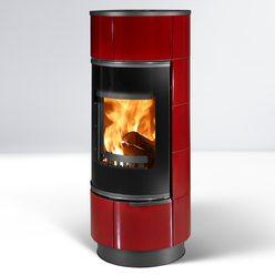 Керамическая дровяная печь ATIKA, черный/красный, с аккум. камнями (Thorma)