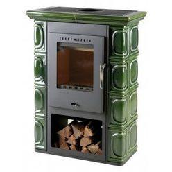 Керамическая дровяная печь Borgholm Keramik, оливково-зеленая (Thorma)