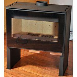 Металлическая печь LEVANTO, черная (Thorma)