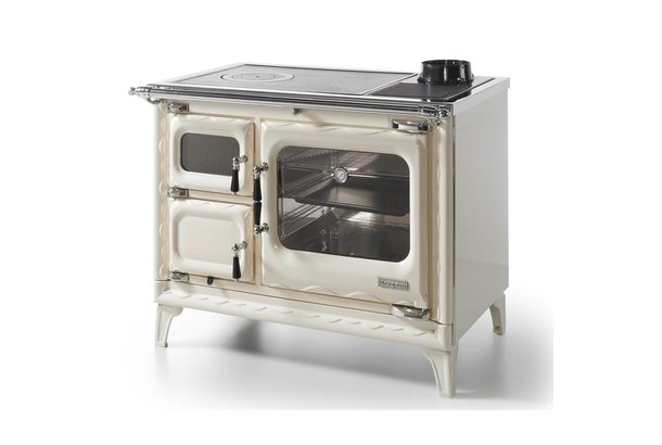 Печь-плита DEVA II 100, чугун, хром, бежевая жемчужина (Hergom)