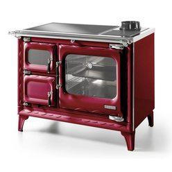 Печь-плита DEVA II 100, стеклокер., хром, бордовая (Hergom)
