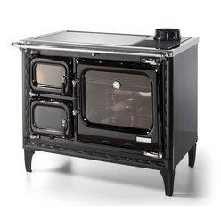 Печь-плита DEVA II 100, стеклокер., хром, черная (Hergom)