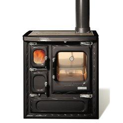 Печь-плита DEVA II 75, чугун, хром, черная (Hergom)
