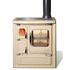 Печь-плита DEVA II 75, стеклокер., хром, бежевая жемчужина (Hergom)
