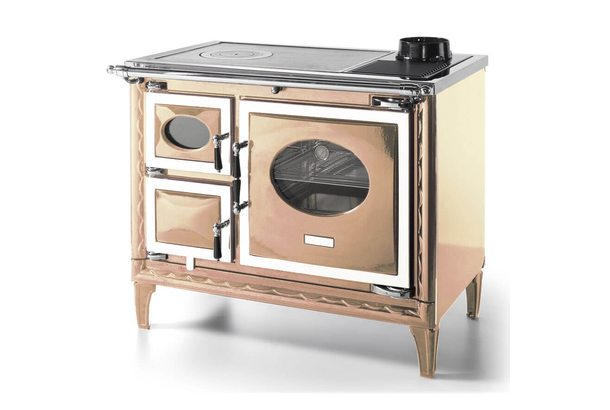 Печь-плита NANSA II H, гидроконтур, чугун, хром, бежевая жемчужина (Hergom)