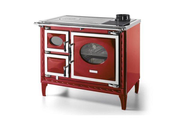 Печь-плита NANSA II H, гидроконтур, чугун, хром, бордовая (Hergom)