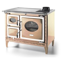 Печь-плита NANSA II, стеклокер., хром, бежевая жемчужина (Hergom)