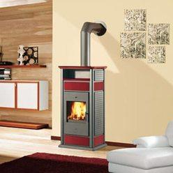 Печь Warm CS rosso с конфоркой (EdilKamin)