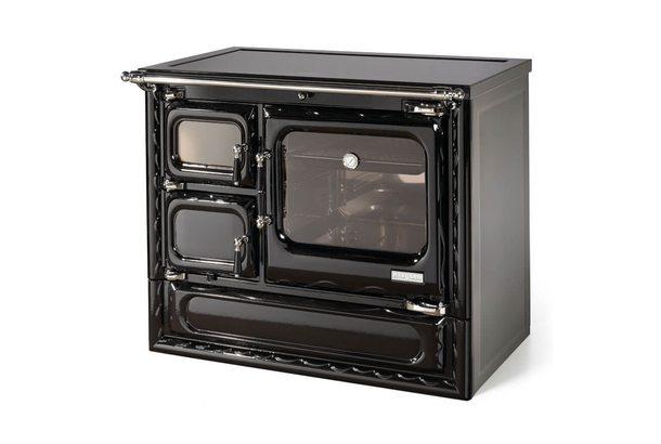 Печь-плита DEVA II 100 N H, гидроконтур, стеклокер., хром (Hergom)