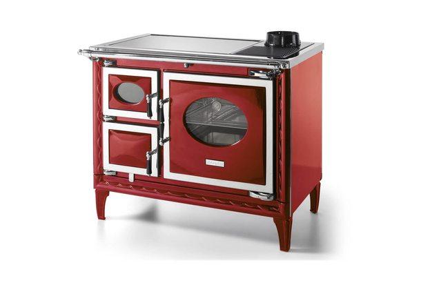 Печь-плита NANSA II H, гидроконтур, стеклокер., хром, бордовая (Hergom)